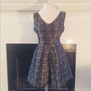 Navy Blue and Gold Cocktail dress